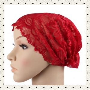 Accessories - The price is firm. Red Lace Headwrap